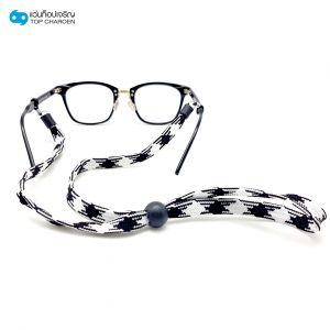 สร้อยแว่นตาแบบเชือกขาว-ดำ